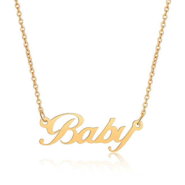 Personalized Custom Name Necklace Custom Jewelry Women Men Silver Gold Rose Gold Choker Necklaces Pendants Bridesmaid Gifts