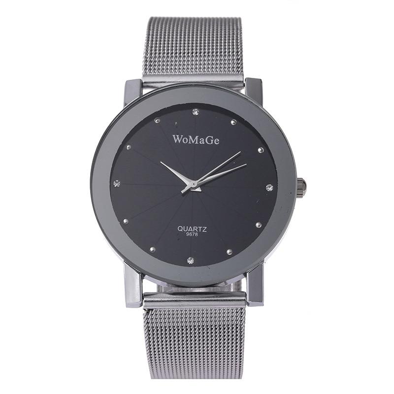 Fashion Womage Man Woman Couple Lovers Reloj Mujer Brand Luxury Mesh Stainless Steel Strap Watches Quartz Women Relogio Feminino