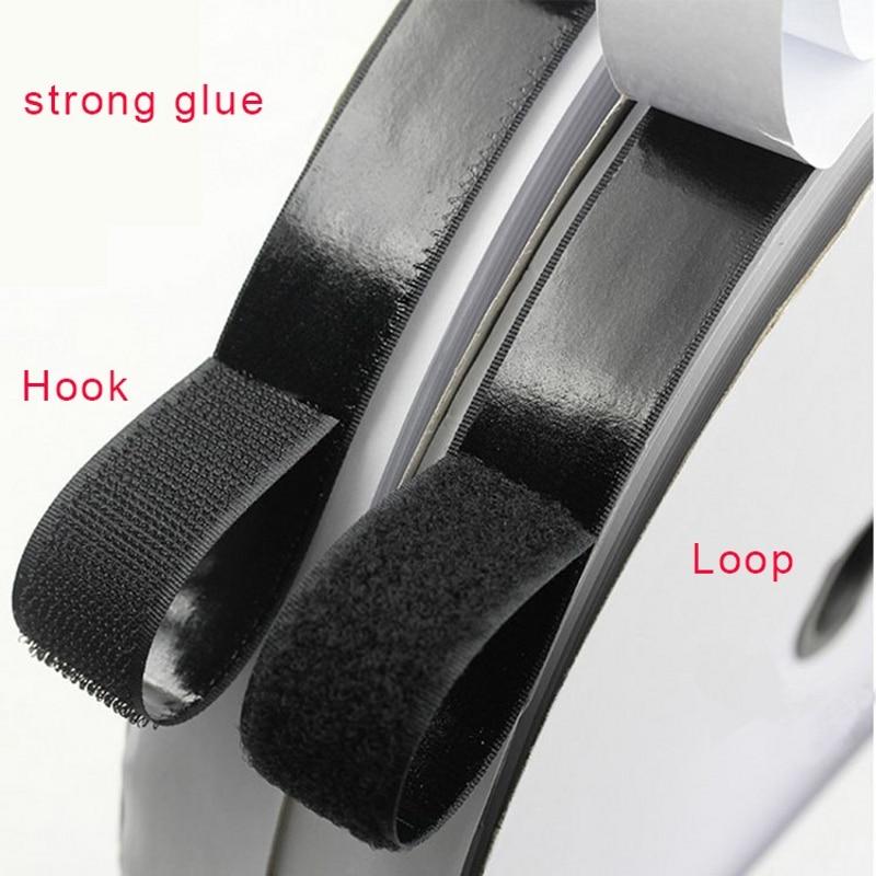 16/20/25/30/38/50mm 1M Black White Magic Tape Hook Loop Fastener Magic Tape Nylon Sticker Self Adhesive Disks Tape Strong Glue