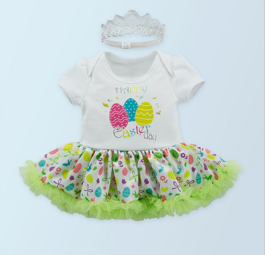 931028d6b Baby Girls Happy Easter Tutu Satin Dress 2PCs per Set Infant 1st ...
