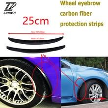 ZD 2 шт. для Skoda Octavia A5 A7 2 Fabia Yeti BMW E60 F30 X5 E53 X6 автомобильные Углеродные крылья колесо края окуляра наклейки полоса