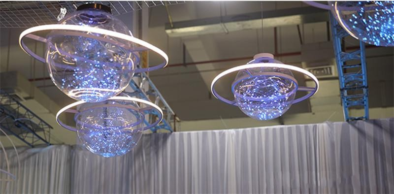 New Arrival Shine LED Flash Star Ball Wedding Showcase Decoration Space Planet Hanging Ornament Chandelier 25cm 30cm 40cm - 5