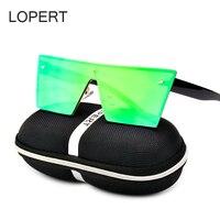 LOPERT Metal Frame Cat Eye Women Sunglasses Female Sunglasses Famous Brand Designer Alloy Glasses Oculos De