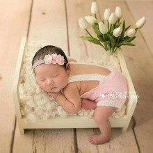Accesorios de cama Vintage para recién nacidos, Bol de madera para fotografía de bebés, artesanía, canasta de madera para niña recién nacida, nido, accesorios para fotos