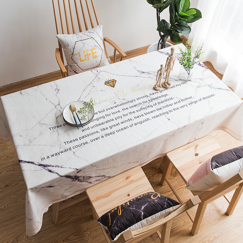 Cool Us 13 28 39 Off Tablecloth Marble Printed Table Cover Living Room Coffee Table Cotton Linen Anti Fouling Restaurant Tablecloth Home Decor Zm184 In Pabps2019 Chair Design Images Pabps2019Com