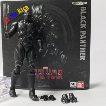 Shfiguarts Captain America 3 Guerra Civile Pantera Nera Pvc Action Figure Da Collezione Model Toy Doll Regalo