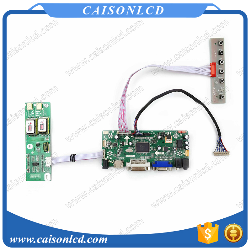 Free Shipping LCD LVDS Controller board with AUDIO HDMI DVI VGA for 15 1024X768 LCD TFT