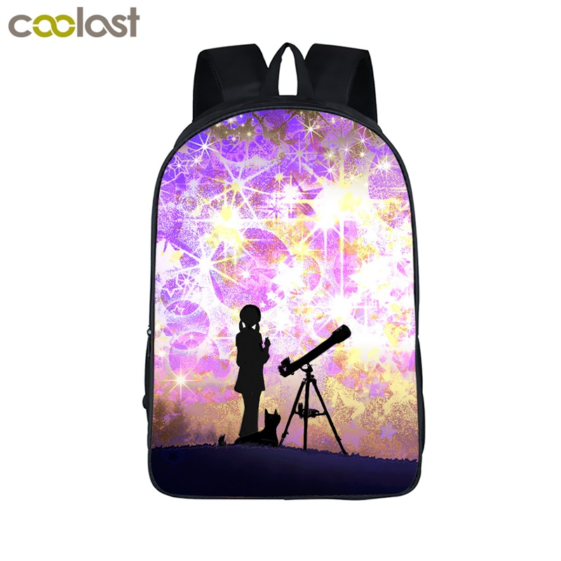 Galaxy Backpack Kid School Bags for Teenagers Men Travel Bags Universe Laptop Backpack Women Kawaii mochila Girls Back to School voyjoy t 530 travel bag backpack men high capacity 15 inch laptop notebook mochila waterproof for school teenagers students