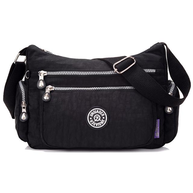 Novas mulheres bolsas de viagem sólida sacos de ombro mensageiro sacos de nylon à prova d' água para as mulheres senhoras feminino bolsa estilo de moda de verão