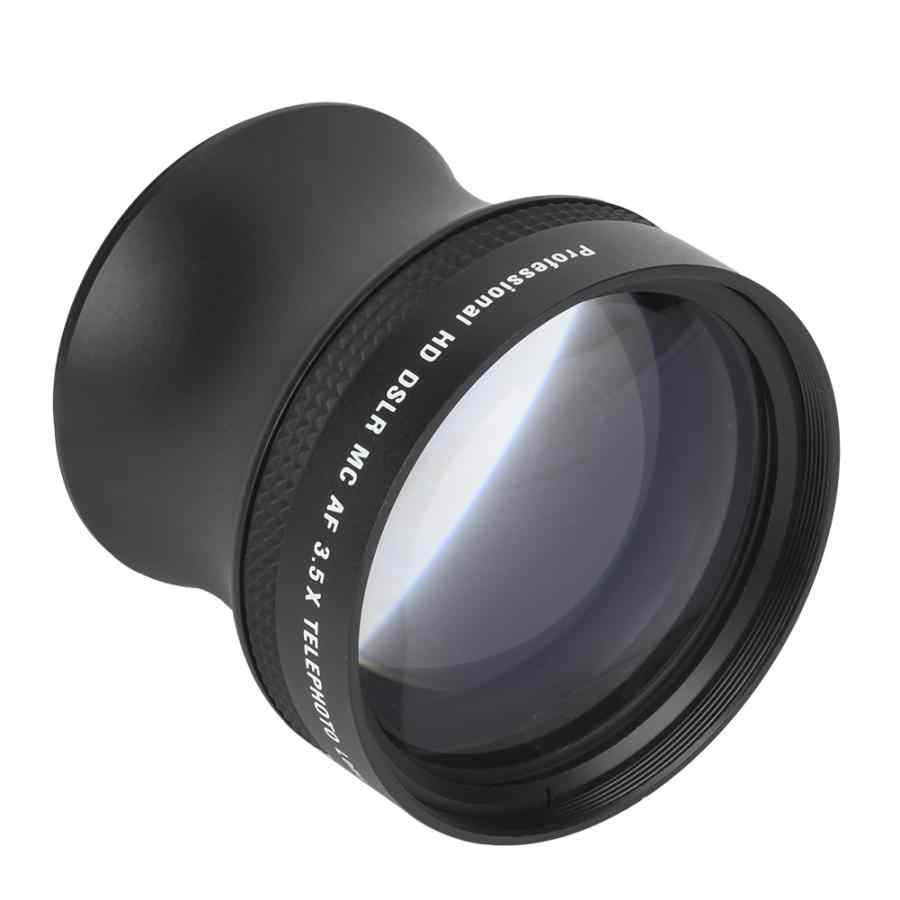 58mm Metal Teleconverter 3.5x Magnification Telephoto Lens Universal for Canon Nikon Pentax Olympus Sony Samsung SLR Camera