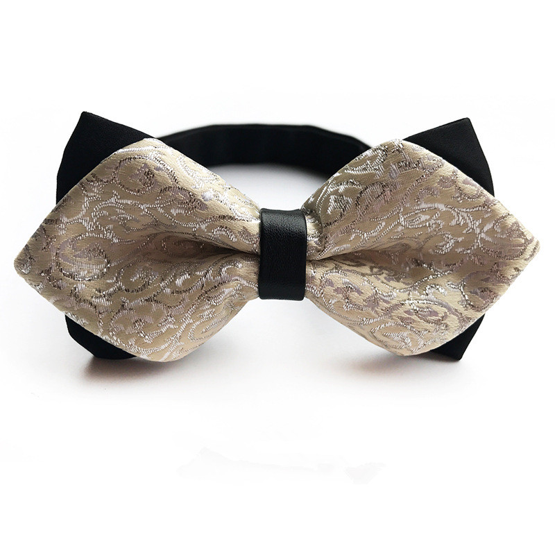11.5*5.5cm NEW Beige Bow Tie Wedding Bowtie Noeud Papillon Men's Polyester Silk Pajaritas Cravat Bowties Female Male Neckwear
