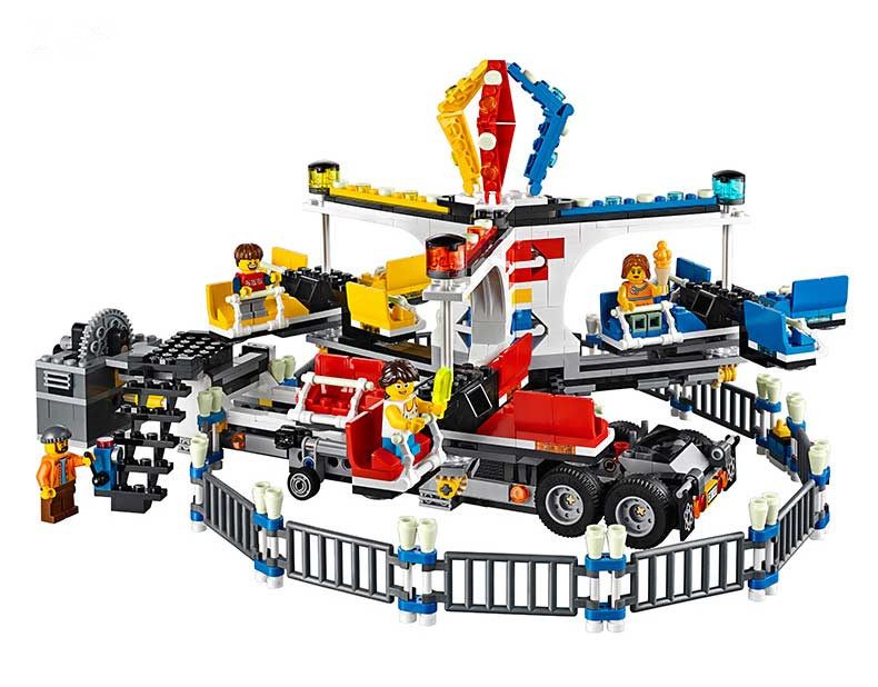 Lepin 15014 Street Series The Amusement Park Giant Stride Carnival Set 10244 Educational Building Blocks Bricks Toy Gift ynynoo lepin 02043 stucke city series airport terminal modell bausteine set ziegel spielzeug fur kinder geschenk junge spielzeug