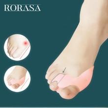 2 sztuk żel silikonowy Separator palców stopy śródstopia aparat na haluksy ochrony korektor ortezy palucha koślawego ulga w bólu narzędzie do pielęgnacji stóp