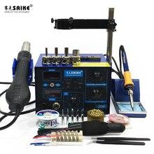 цена на SAIKE 952D 2 in 1 SMD Rework Soldering Station Hot Air Gun Solder Iron Desoldering 220V 110V
