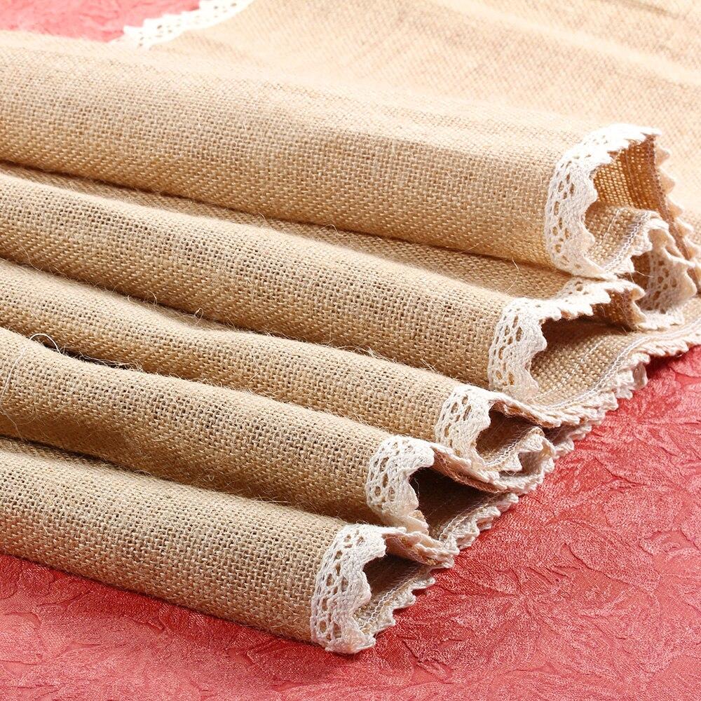 navidad patchwork camino de mesa 30x245 cm corredores de la tabla para la boda de arpillera
