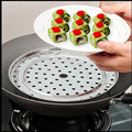 Round Stainless Steel Steaming Rack w Stand 20/22/24/26cm Diameter