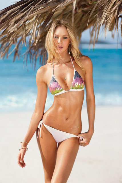 Candice swanepoel sexy model silk poster 24x36
