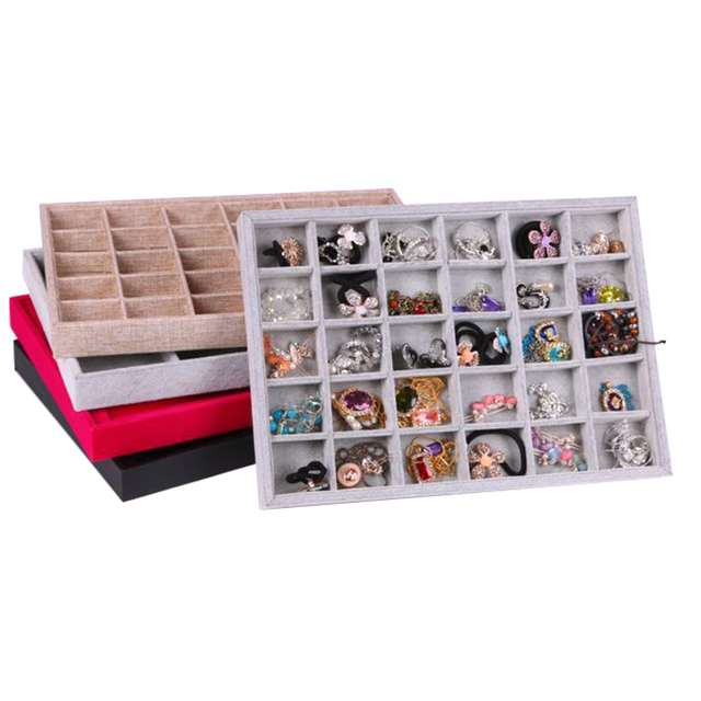 30 Compartments Velvet Bracelet Bangle Watch Jewelry Display Tray Holder for Personal Use Shop Display Jewelry Display Holder