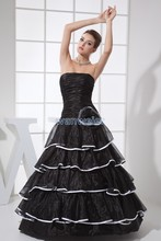 free shipping new affordable bridal gown designers handmade custom size/color ball dress black luxury wedding 2013