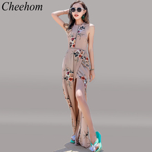 Cheehom Women Summer Dress Backless Off Shoulder Neck Dress Womens Holiday Symbian Sacks Tahiti Tropical Island Beach Vestidos