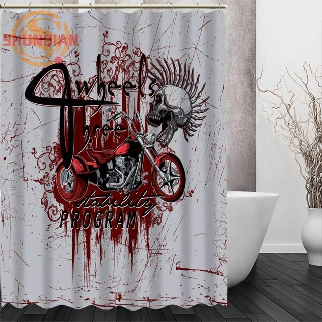 Beautiful Color Splash Art Pattern Shower Curtain Eco Friendly Modern Fabric  Polyester Custom Bath Curtains Home