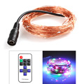 10m/32.8feet 100LEDs Copper Wire String Fairy RGB Light Lamp for Decoration Xmas with 12V Adaptor