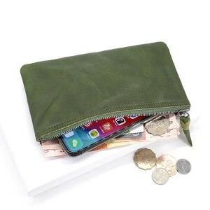 Image 3 - ผู้หญิงกระเป๋าสตางค์แฟชั่นหนังแท้ซิป Slim กระเป๋า Cowhide LADIES กระเป๋าสตางค์โทรศัพท์หญิงขนาดเล็กเหรียญเหรียญเงินกระเป๋า