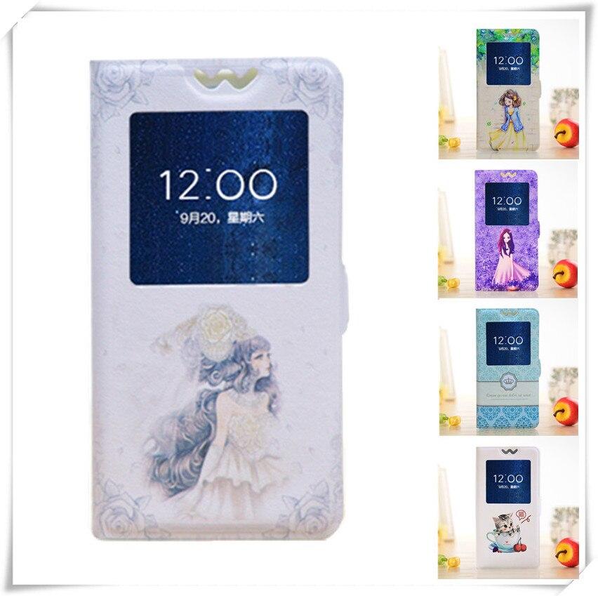 Lâmina Caso L7, Pintado Dos Desenhos Animados de Luxo Flip Tampa da Caixa Do Telefone Móvel Para ZTE Lâmina Caso L7 5.0 ''Com vista Da Janela