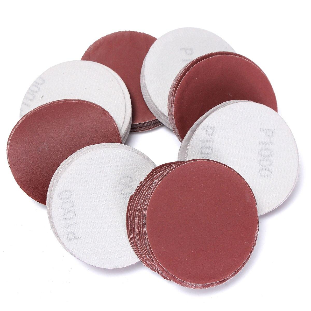 100pcs 75mm 1000g Grit Abrasive Sand Discs Sandpaper Sanding Polishing Pad Smooth Cleaning