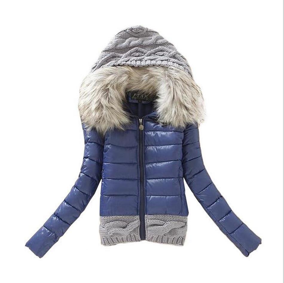 Autumn Winter Cotton Coats Women Parkas Casual Slim Hooded Basic Jacket Coat Ladies Inverno Wadded Plus Size 2017 Female