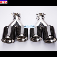NEW M Performance Akrapovic CARBON EXHAUST TIP exhaust muffler tip for BMW M3 M5 M6 2.5'' in 3.5'' out car styling