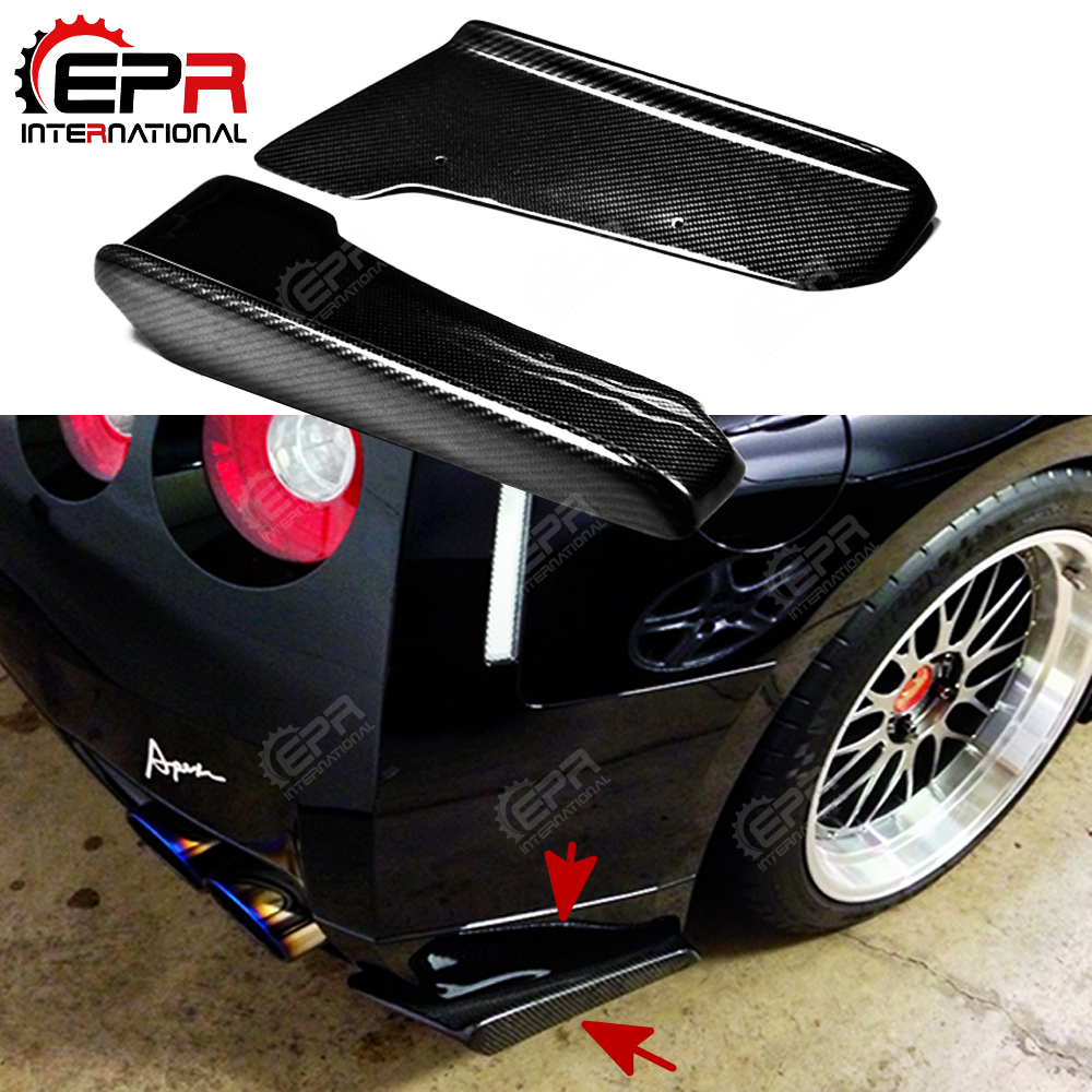 Car-styling J-Style Carbon Fiber Rear Bumper Extension Glossy Finish Bumper Spat Tuning Splitter For Nissan R35 GTR 09-10 CoupeCar-styling J-Style Carbon Fiber Rear Bumper Extension Glossy Finish Bumper Spat Tuning Splitter For Nissan R35 GTR 09-10 Coupe
