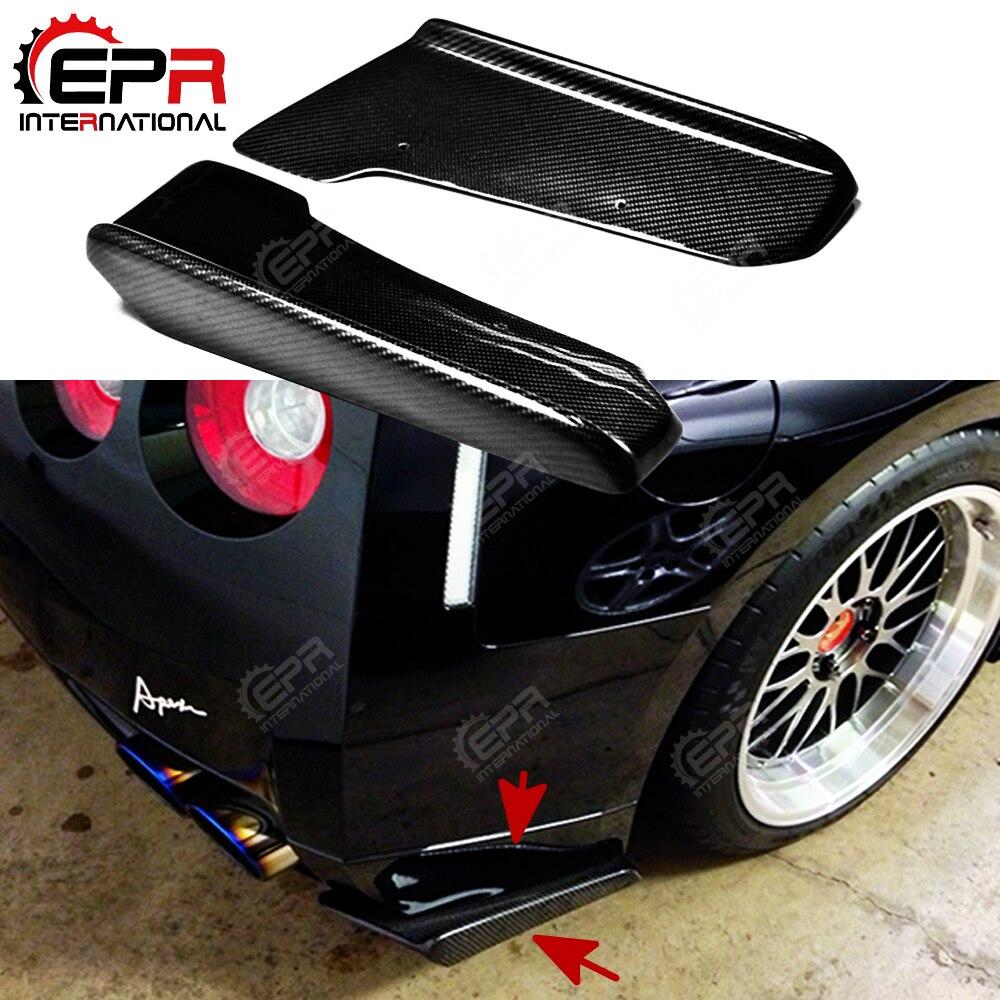 Extension de pare-chocs arrière en Fiber de carbone j-style voiture finition brillante séparateur de réglage de crache de pare-chocs pour Nissan R35 GTR 09-10 coupé