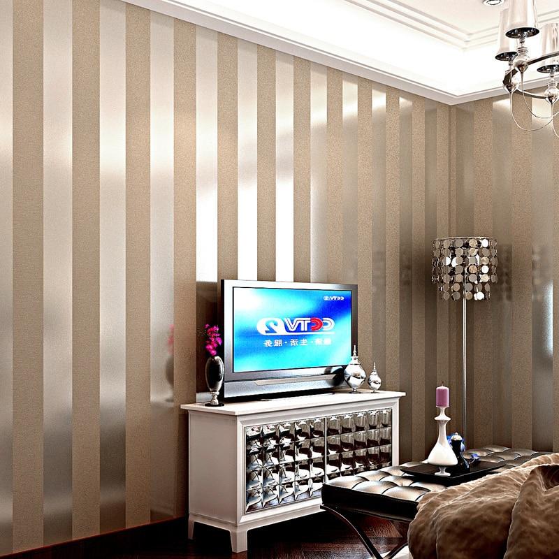 Wallpapers YOUMAN Modern 3D Embossed Wallpaper Roll 3D Stripe Wallpaper Desktop Wall Paper Covering Non-Woven Home Decoration