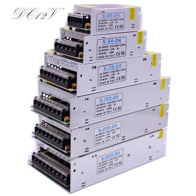 DC12V 1A 2A 3A 5A 8.5A 10A 15A 20A 30A الإضاءة المحولات LED سائق محول الطاقة للقطاع بقيادة مفتاح الإضاءة امدادات الطاقة