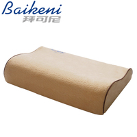 High Quality Slow Rebound Cervical Neck Support Velvet Memory Foam Pillow Bamboo Fiber Massage For Neck