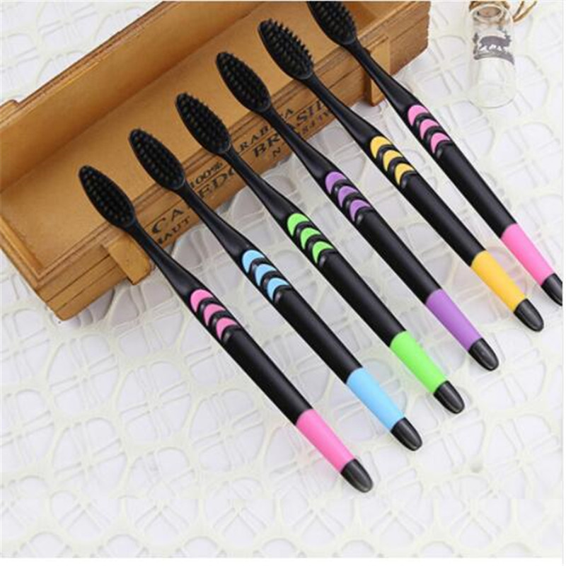 10PCS Double Ultra Soft Toothbrush Bamboo Charcoal Nano Brush Oral Care 625 Nano-antibacterial Toothbrush Family Suite