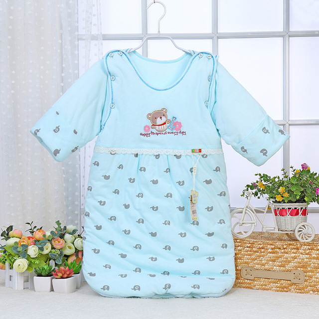 Cartoon Newborn baby Sleeping Bag Cotton winter thicken infant Clothes style sleeping bags Long-sleeved Romper for baby AB039