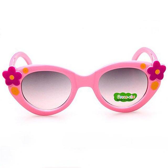 742ea1defd64 Child Sunglasses Anti-UV Girls Boys Resin Lovely Flower Sun Glasses 2017 Fashion  UV400 Summer Sunglasses Cheap Safety 105