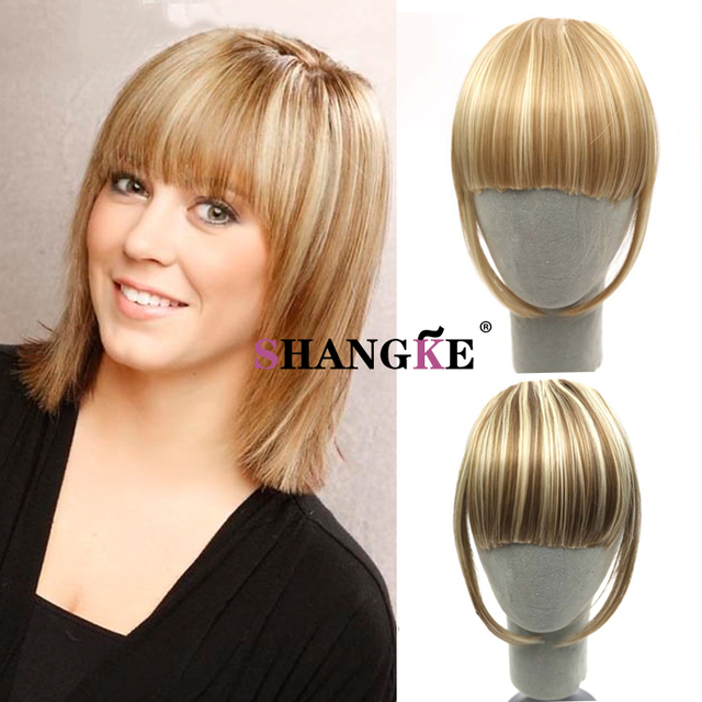 Clip In Bangs Fake Hair Extension Hairpieces Front Hair Bangs