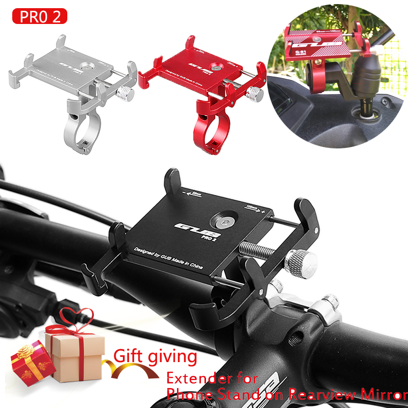 Aluminum Bike Mobile Phone Holders Stands MTB Road Bike Bicycle Motorbike Phone Holder GUB PRO2 For 3.5
