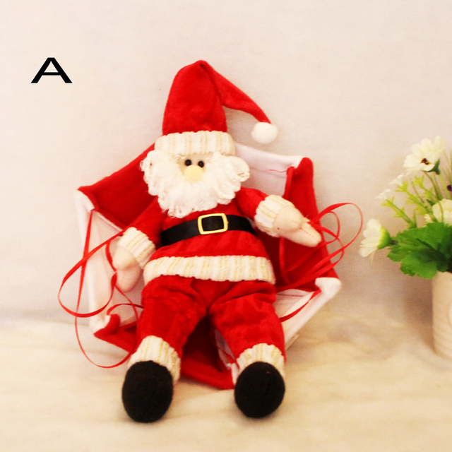 4style Christmas Home Ceiling Decorations Parachute Santa Claus Hanging Pendant Decoration Supplies Z422