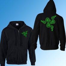 Spiel Team Razer zipper hoodies sweatshirt herbst winter Warme Fleece Baumwolle Mantel Reißverschluss Oberbekleidung Mit Kapuze Klage