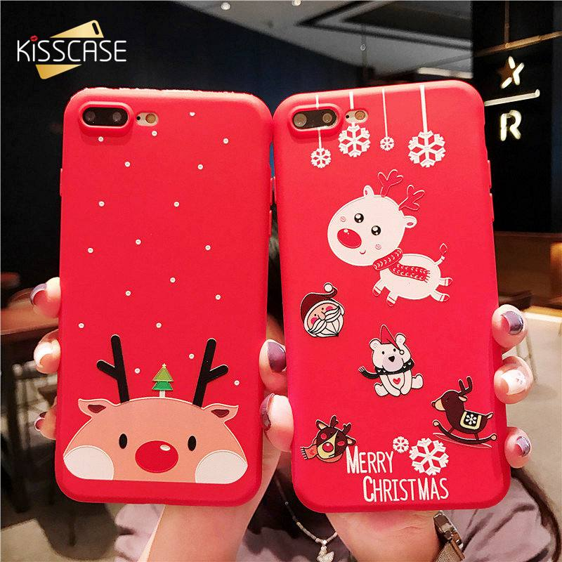 Christmas Phone Case Iphone 7.Us 2 16 31 Off Kisscase Christmas Phone Case For Iphone 7 8 6s 6 Plus X Xs Max Xr Cases 2019 New Year Gift Cover For Iphone X Xs Max Xr 5s Se 5 In