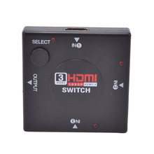 Mini 3 Port HDMI Switch Switcher Splitter 3 Input 1 Output Box HDMI Selector untuk PS4 Smart HDTV 1080 P(China)
