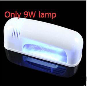 Free Shipping PRO FULL 9W UV White Lamp Electric nail machine 12 Color Pure UV GEL 8 Zebra Acrylic Brush Nail Art KIT Gel Set - 3