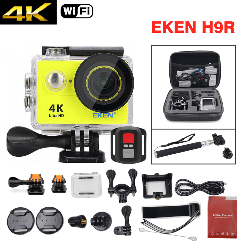 EKEN H9R Ultra HD 4K Action Sport Camera Deportiva WiFi Waterproof Remote Controller Camcorder Kit Bag