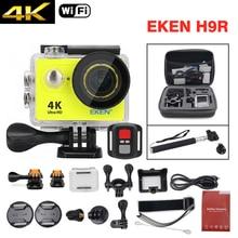 EKEN H9R Ultra HD 4 K Câmera de Ação Esporte Deportiva Wi-fi Kit-Saco + Monopé Controle Remoto Filmadora À Prova D' Água incluem