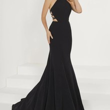 Rotylee Sexy Mermaid Prom Dresses Sweep Train Evening Dress
