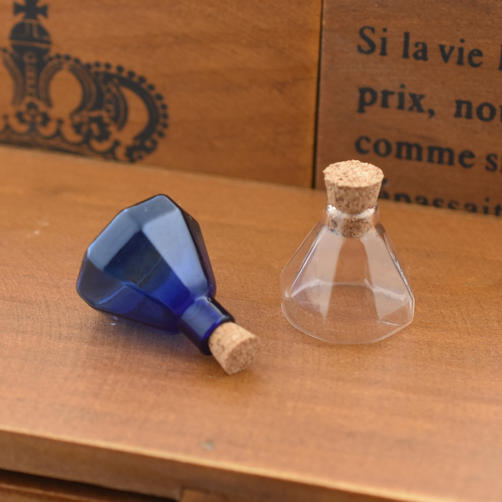 1 Stück Achteckige Kork Glasflasche Glas Fläschchen Anhänger Verkorkt Flaschen Wünschen Flasche Halskette Anhänger Handgemachten Schmuck Erkenntnisse GroßE Sorten